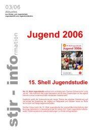 Jugend 2006 15. Shell Jugendstudie - Stjr.de