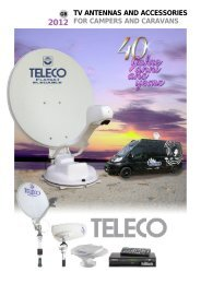tv antennas and accessories for campers and caravans - Teleco