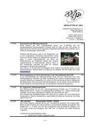 1 < newsletter 02 / 2004 - STADTJUGENDRING WOLFSBURG EV