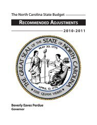 recommended adjustments - Office of State Budget and Management