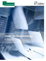 Center for Biotechnology A Decade - CeBiTec - Universität Bielefeld