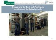 Erneuerung der Backup Infrastruktur am Centrum für ... - CeBiTec