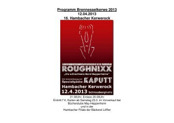 Programm Bre Programm Brennesselkerwe 2013 12.04.2013 16 ...