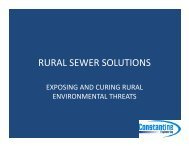 RURAL SEWER SOLUTIONS - Alabama Clean Water Partnership