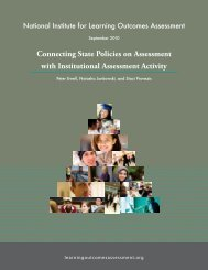 Connecting State Policies on Assessment with Institutional ...