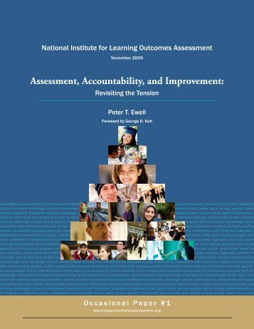 Assessment, Accountability, and Improvement: - National Institute for ...