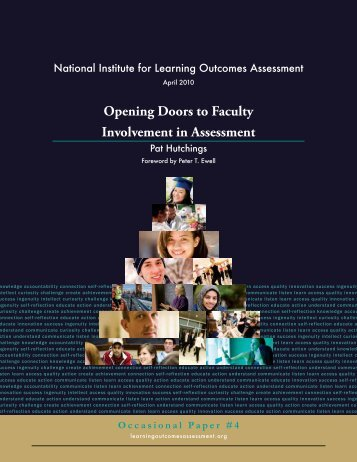 Opening Doors to Faculty Involvement in Assessment(pdf) - National ...