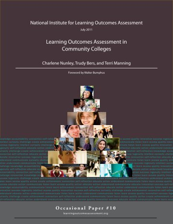 Learning Outcomes Assessment in Community Colleges - National ...