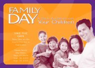 Family Day Brochure - Center on the Family - University of Hawaii