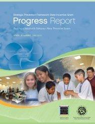 SPF-SIG Progress Report (2011) - Center on the Family