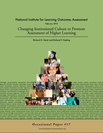 Changing Institutional Culture to Promote Assessment of Higher ...
