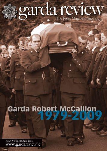 Garda Robert McCallion - Garda Review magazine