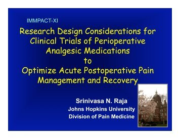 Research Design Considerations for Clinical Trials of ... - immpact