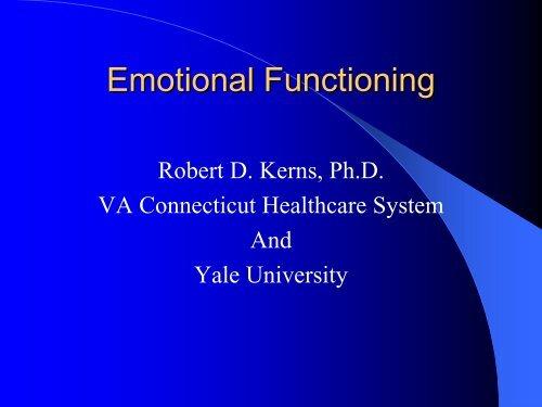 Emotional Functioning - immpact
