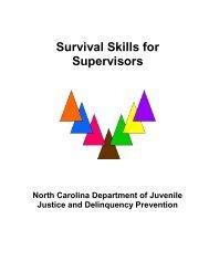 Survival Skills for Supervisors - North Carolina Department of Public ...