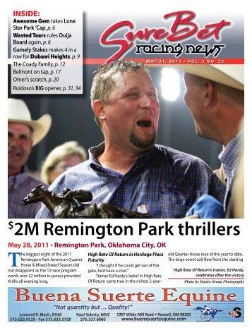 2M Remington Park thrillers - SureBet Racing News