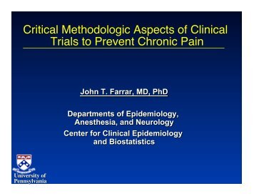 Critical Methodologic Aspects of Clinical Trials to Prevent ... - immpact