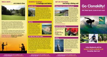 Go Clonakilty brochure - Quality Hotel and Leisure Centre