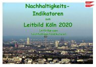 Nachhaltigkeits- Indikatoren Leitbild Köln 2020