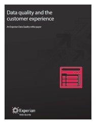 Data Quality and the Customer Experience - QAS.com