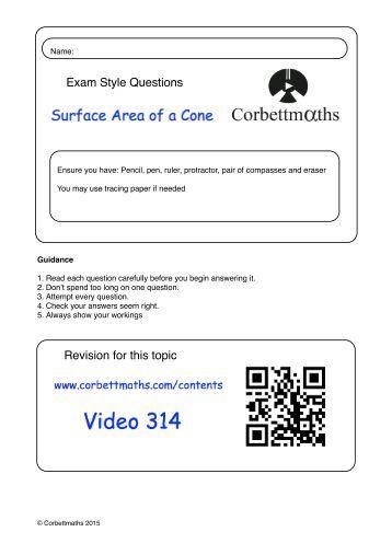 volume of cone worksheet math worksheets for kids. Black Bedroom Furniture Sets. Home Design Ideas