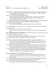 2 Lent March 8, 2009 Genesis 17:1-7, 15-16; Romans 4:13-25; Mark ...