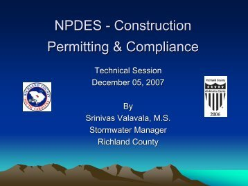NPDES - Construction Permitting & Compliance - Richland County