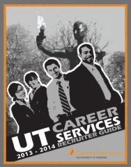 2013 - 2014 - Career Services - The University of Tennessee ...