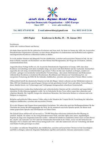 Konferenz in Berlin, 29. – 30. Januar 2011: PDF - HUYODO.COM
