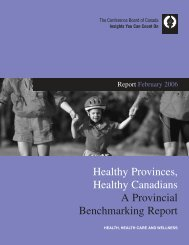 Conference Board of Canada - State of Health Care - Cancer ...