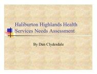Health Services - Haliburton County Community Cooperative Inc