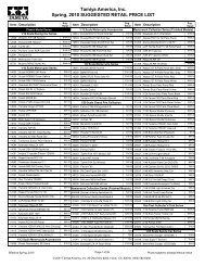 1996 Retail Price List