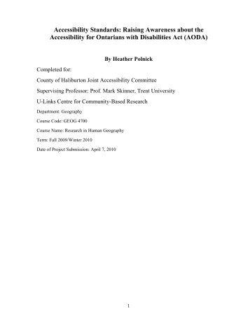 Rough Draft - Haliburton County Community Cooperative Inc