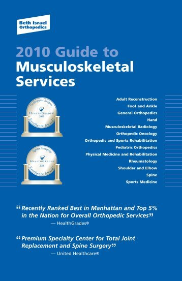 2010 Guide to Musculoskeletal Services