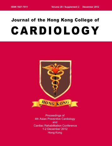 December 2012 Vol.20 supplement 2 - Hong Kong College of ...