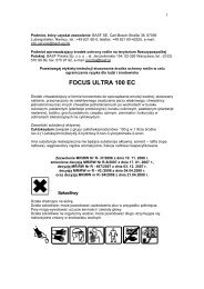 Focus Ultra 100 EC - BASF Polska
