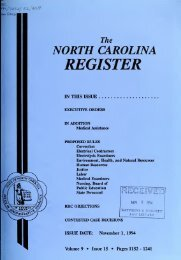NC Register Volume 9 Issue 15 - Office of Administrative Hearings
