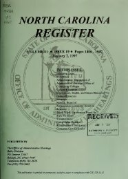 NC Register Volume 11 Issue 19 - Office of Administrative Hearings