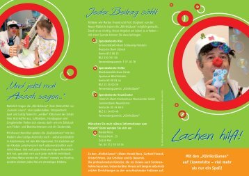 Lachen hilft! Lachen hilft! - Klinikclowns in Kiel