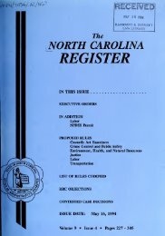 NC Register Volume 9 Issue 04 - Office of Administrative Hearings