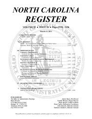 NC Register Volume 25 Issue 18 - Office of Administrative Hearings