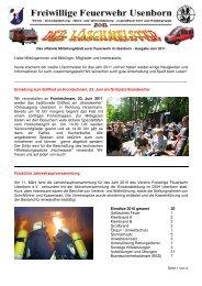 Löschmeister Ausgabe 02/2011 - Freiwillige Feuerwehr Usenborn eV