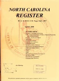NC Register Volume 14 Issue 19 - Office of Administrative Hearings