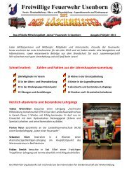 Löschmeister Ausgabe 01/2012 - Freiwillige Feuerwehr Usenborn eV
