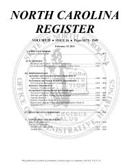 NC Register Volume 25 Issue 16 - Office of Administrative Hearings