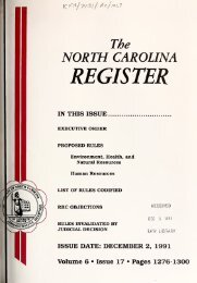NC Register Volume 6 Issue 17 - Office of Administrative Hearings