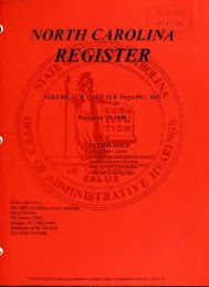 NC Register Volume 13 Issue 12 - Office of Administrative Hearings
