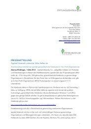 Applied Materials unterstützt Stifter-helfen.de