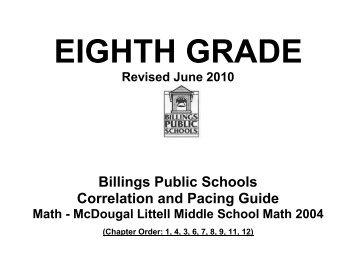 Glencoe Algebra I Pacing Guide â Saginaw Public Schools