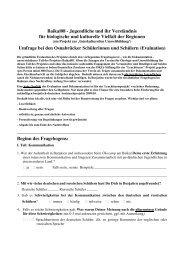 Umfrage bei den Osnabrücker Schülerinnen und Schülern